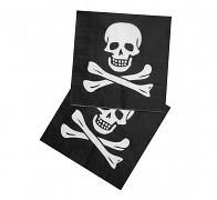 ČERNÉ ubrousky HALLOWEEN lebka / pirát, á 1ks