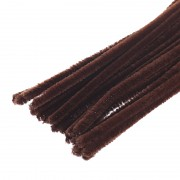 HNĚDÉ chlupaté drátky žinylky tvarovací drát á 1ks