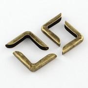 Kovové rohy 15mm bronzové, bal. 10ks