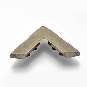 Velké kovové rohy 30mm bronz, bal. 4ks