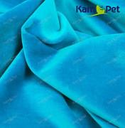Kupón 104 tyrkysový samet modrý látka 100% bavlna dovoz Německo