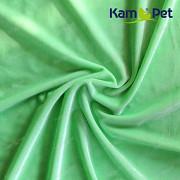 Kupón 124 Světle zelený samet látka 100% bavlna dovoz Německo