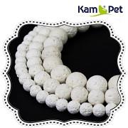 Korálky z minerálů Bílá láva kuličky 10mm přírodní minerál tektit