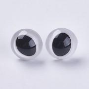 BÍLÉ bezpečnostní oči s duhovkou 18mm oči na výrobu hraček panenek