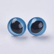 MODRÉ bezpečnostní oči s duhovkou 18mm oči na výrobu hraček panenek