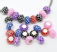 Růžová pandora korálek kovová mřížka