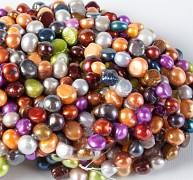Velké přírodní říční perly 7-14mm pestrobarevný mix