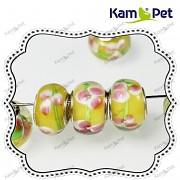 Pandora korálek vinuté sklo vinutka žluté květy
