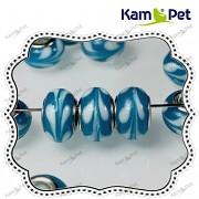 Pandora korálek vinuté sklo vinutka modré květy