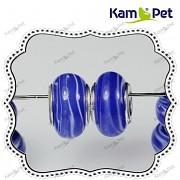 Pandora korálek vinuté sklo vinutka PUNC 925 modrý melír