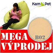 VÝPRODEJ smetanový sedací vak sleva 55% KamPet Sprite 110 RINS