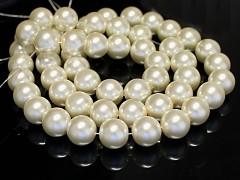 Voskované perly  16mm SMETANOVÉ