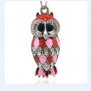 STŘÍBRNÁ SOVA LUXUSNÍ Přívěšek stříbrný vintage náhrdelník s přívěškem dárek pro ženu