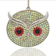 SOVA s kamínky LUXUSNÍ Přívěšek stříbrný vintage náhrdelník s přívěškem dárek pro ženu