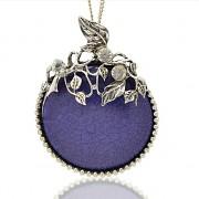 MODRÝ LUXUSNÍ Přívěšek stříbrný vintage náhrdelník s přívěškem dárek pro ženu