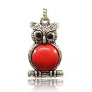 ČERVENÝ HOWLIT SOVA LUXUSNÍ Přívěšek vintage náhrdelník s přívěškem howlit dárek pro ženu