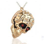 Zlatá lebka LUXUSNÍ Přívěšek zlatý vintage náhrdelník s přívěškem dárek pro ženu či muže