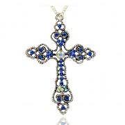 KELTSKÝ KŘÍŽ s kamínky LUXUSNÍ Přívěšek vintage náhrdelník s přívěškem dárek pro ženu