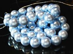 Voskované perly  16mm SVĚTLE MODRÉ
