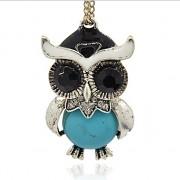 TYRKYSOVÝ HOWLIT SOVA LUXUSNÍ Přívěšek vintage náhrdelník s přívěškem howlit dárek pro ženu