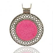 RŮŽOVÝ magický kruh LUXUSNÍ Přívěšek vintage náhrdelník s přívěškem dárek pro ženu