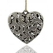 Keltské buclaté srdce LUXUSNÍ Přívěšek vintage náhrdelník s přívěškem dárek pro ženu
