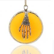 MERUŇKOVÝ magický kruh LUXUSNÍ Přívěšek vintage náhrdelník s přívěškem dárek pro ženu