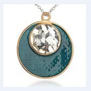 ZELENÝ magický kruh LUXUSNÍ Přívěšek vintage náhrdelník s přívěškem dárek pro ženu
