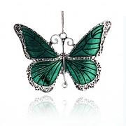 ZELENÝ MOTÝL s kamínky Přívěšek keltský vintage náhrdelník s přívěškem dárek pro ženu