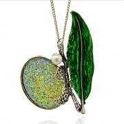 ZELENÁ VÁŽKA s kamínky LUXUSNÍ Přívěšek keltský vintage náhrdelník s přívěškem dárek pro ženu