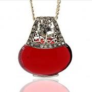 ČERVENÉ magické oko kočičí LUXUSNÍ přívěšek vintage náhrdelník s přívěškem dárek pro ženu