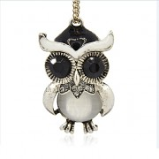 Keltská sova kočičí oko přívěšek vintage náhrdelník s přívěškem dárek pro ženu