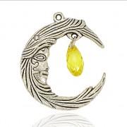 Keltský MĚSÍC přívěšek vintage náhrdelník s přívěškem dárek pro ženu