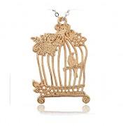 ZLATÁ ptačí klec přívěšek vintage náhrdelník s přívěškem dárek pro ženu
