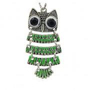Keltská sova zelená přívěšek vintage náhrdelník s přívěškem dárek pro ženu