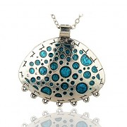 ZELENÝ medailon Přívěšek keltský vintage náhrdelník s přívěškem dárek pro ženu