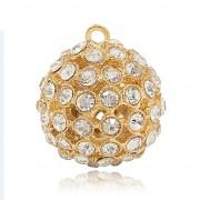 KOULE s kamínky LUXUSNÍ Přívěšek zlatý vintage náhrdelník s přívěškem dárek pro ženu