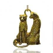 ZLATÍ  tygři gepardi kočky přívěšek vintage náhrdelník s přívěškem dárek pro ženu