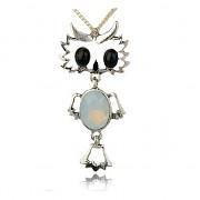 Keltská sova kočičí oko přívěšek vintage náhrdelník s přívěškem dárek pro ženu výr