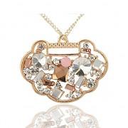 MEDAILON s kamínky LUXUSNÍ Přívěšek zlatý vintage náhrdelník s přívěškem dárek pro ženu