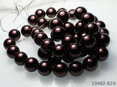 Voskované perly  16mm HNĚDÉ