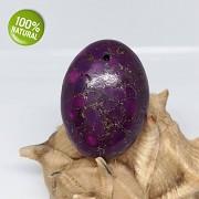 FIALOVÝ baculatý kámen Tyrkenit přívěšek na náhrdelnÍk barvený howlit
