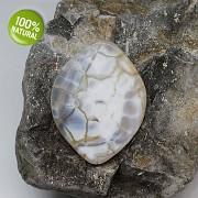 Dračí achát kámen na náhrdelník šperkový přírodní minerál