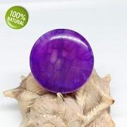 FIALOVÝ Dračí achát kámen na náhrdelník šperkový přírodní minerál