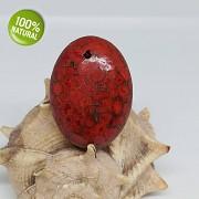 BORDÓ červený baculatý kámen Tyrkenit přívěšek na náhrdelnÍk barvený howlit