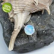 OPALIT korálek broušená kulička na náhrdelník šperkový přírodní minerální korálek