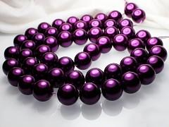Voskované perly  16mm TMAVĚ FIALOVÉ