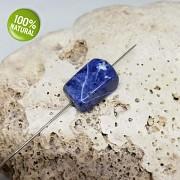 Modrý SODALIT korálek / přívěšek na náhrdelník minerální kámen tromlovaný