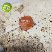 Karamelový Karneol achát na náhrdelník šperkový přírodní minerál tromlovaný kámen