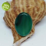 Zelený achát na náhrdelník šperkový přírodní minerál tromlovaný kámen